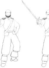 Lord Admirał Damian – szkice koncepcyjne zarostu